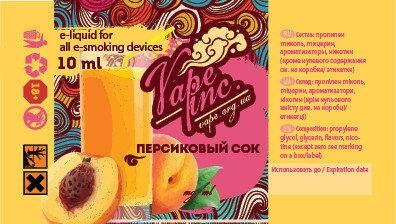 Vape Inc Персиковый сок 10 мл